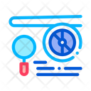 Inspect Airplane Engine Icon