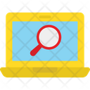 Inspection Laptop Magnifying Icon