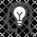 Inspiration Lightbulb Brainstorm Icon