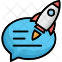 Chat Instant Message Rocket Icon