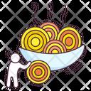 Italian Cuisine Pasta Noodles Icon