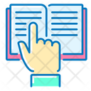 Instruction Book Finger Up Icon