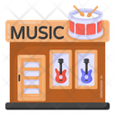 Music Shop Music Store Instruments Retail Icon