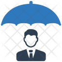 Shield Businessman Protection Icon