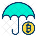 Bitcoin Insurance Bitcoin Protection Icon