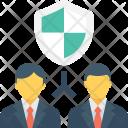Insurance Shield Businessmen Icon