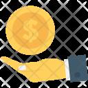 Insurance Hands Dollar Icon