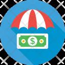 Insurance Umbrella Dollar Icon