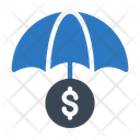 Insurance Umbrella Dollar Icon