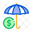 Umbrella Color Sectors Icon