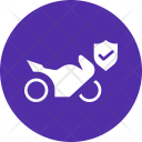Insurance Motorcycle Cover Icon