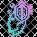 Shield Head Brain Icon