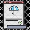 Insurance Protection Umbrella Icon
