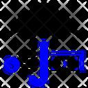 Dollar Umbrella Sign Icon