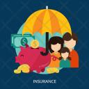 Insurance Saving Umbrella Icon