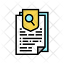 Insurance Paper Agreement Research Icon