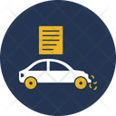 Insurance Paper Of Vehicle Automobile Breakdown Icon