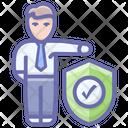 Insured Person Person Assurance Person Protection Icon