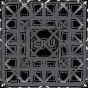 Cpu Chip Microprocessor Microchip Integrated Circuit Icon