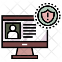 Classified Warning Computer Icon