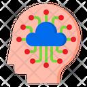 Intelligent Cloud Server Icon