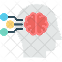 Intelligent Data Mind Processing Brainstorming Icon