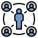 Interaction Connect Society Icon