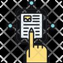Interactive Content E Book Emagazine Icon