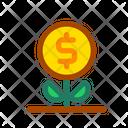 Interest Money Plant Compound Icon