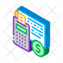 Coin Money Calculator Icon