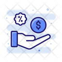 Interest On Investment Online Investment Bank Icon