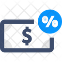 Interest Rate Cash Money Icon