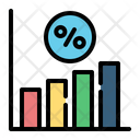 Interest Rate Bank Coin Icon