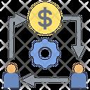 Coin Exchange Intermediary Icon