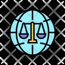 International Jurisprudence Law Icon