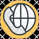 International Call Globe Icon