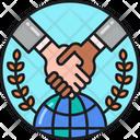 International Agreement Global Agreement Global Partnership Icon