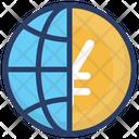 Virtual Business International Business World Wide Business Icon