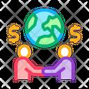 International Partnership Businessman Icon