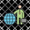 International Businessman Icon