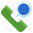 International Call Communications World Icon