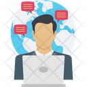 International Clients Global Messages Icon