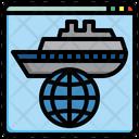 International Cruise Globe Internet Icon