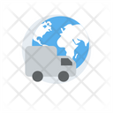 Global Logistics International Freight International Delivery Icon