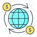 International Finance Global Currency Global Investment Icon