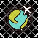 International Flight Airplane Airport Icon