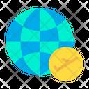 Flight Fly Globe Icon