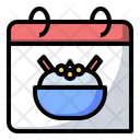 Hummus Food Calendar Icon