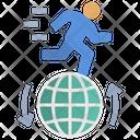 Powered Run Globalization Icon