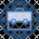 Globe Portfolio Online Job Icon
